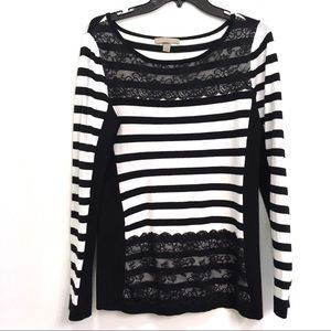 OneA | black and white sweater